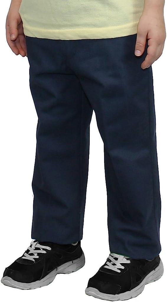 Authentic Galaxy Boys Flat Front School Pants Husky//Regular