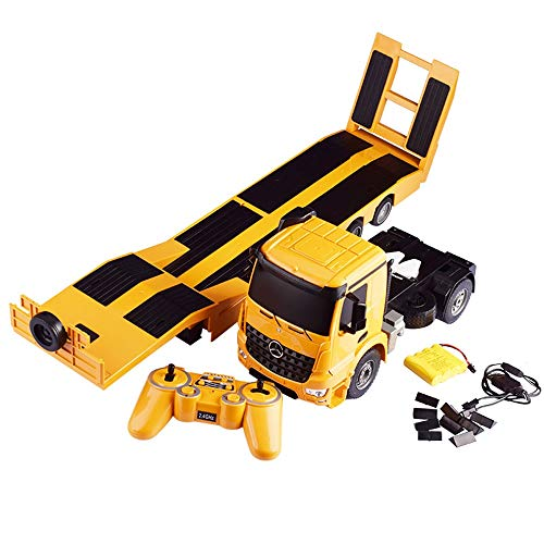 Hging Fernbedienung Spielzeug Traktor Flachbett LKW Traktor Trailer Anhänger Kind Elektrische Fernbedienung...