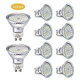 Ampoule LED GU10, 5W Équivalent Halogene 35W, 50W, Blanc Chaud 2800K, Spot Lampe...