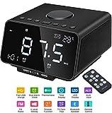 LED Digitaler Wecker mit USB-Ladeanschluss, Große Ziffern Display, Lauter Alarm, Helligkeit und Lautstärke Regelbar, Snooze, 12/24HR