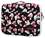 Canvaslove Polar Bear Conner Bottom Rebound Bubble Protective Waterproof Laptop Sleeve Case with Handle and Pockets for MacBook Pro 16 inch,MacBook Pro 15 inch,Surface Laptop 3/Surface Book 2 15 inch