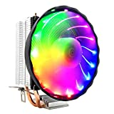 Feicuan Ventole per CPU PWM Fan Silenzioso Colorato LED CPU Cooler Heatsink per AMD AM4 AM...