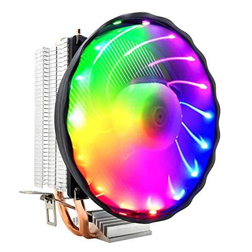 Feicuan Ventilador de CPU Disipador de Calor PWM Fan 4pin Silencioso Colorful...