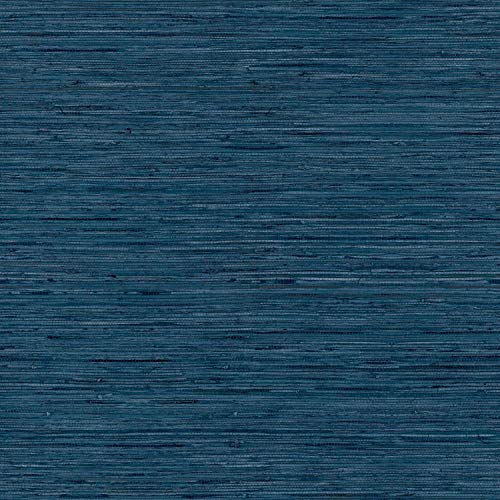 RoomMates Grasscloth Blue Peel and Stick Wallpaper - RMK11314WP