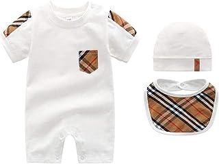 Unisex Newborn Cotton Baby Boy Romper Bodysuit Jumpsuit Outfits Set One-Piece Baby Boy Clothes,...