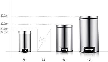 MU Kreative Nordic 5 l, 8 l, 12 l pedał ze stali nierdzewnej czarny kosz na śmieci, do gospodarstwa domowego, łazienki, ku...