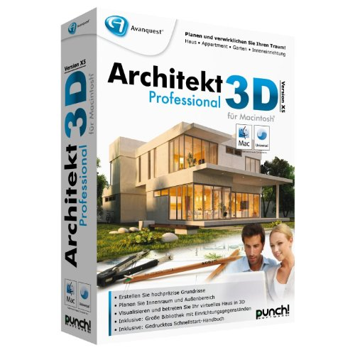 Avanquest Architekt 3D X5 Professional MAC - Software de diseño automatizado (CAD) (DEU, 4900 MB, 256 MB, G3/4/5 Intel-Mac)