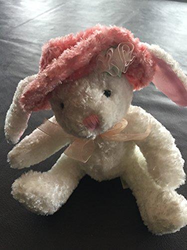 "Dan Dee 7"" Easter Bunny Rabbit Wearing a Pink Hat Plush"
