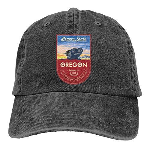 Oregon Banner Cap Baseball Hat Verstellbar Schwarz