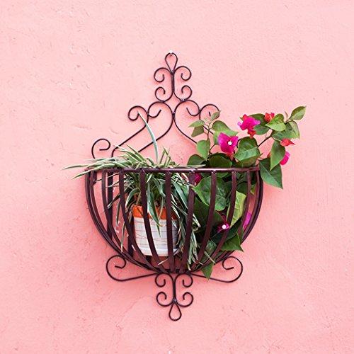 QFF Porte-grenier en fer à repasser en bois de style européen en bois Pendentif en bois Pendentif suspendu en bois Pendentif en fleurs ( Couleur : Marron )