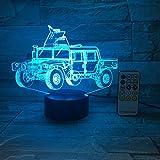 Camión Militar Coche Phantom Lámpara de Mesa Luz de Humor Toque Control Remoto Color Luz del hogar Novedad Tipo de Regalo