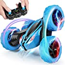 Tg-one Remote Control Car, 2.4GHz RC Cars Stunt Car, Double Sided 360° Rolling Rotating Rotation, LED Headlights 4WD High Speed Off Road, Kids Xmas Toy Cars for Boys/Girls
