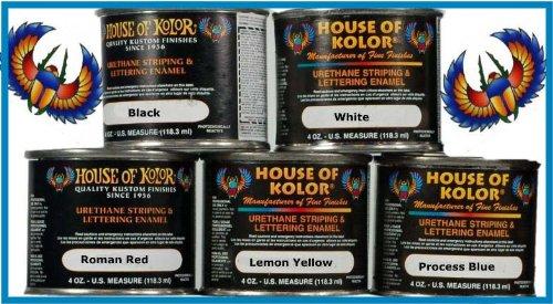 Price comparison product image House of Kolor Lettering Enamel / Pinstripe Paint 5 Set