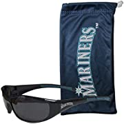 Officially licensed Seattle Mariners and MLB product Our most popular sunglasses with a microfiber bag Sunglasses feature maximum UVA/UVB protection Drawstring microfiber bag for storage and the bag can be used as a cleaning cloth Both pieces feature...