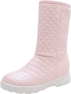 ELEEMEE Women Fashion Block Heel Warm Lining Winter Boots