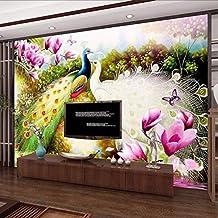 Mural wallpaper 3D Wall Murals Wallpaper Hand Painted Flowers Birds Peacock Oil Painting Living Room Sofa Tv Background Ph...