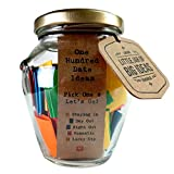 Little Jar of Big Ideas® - 100 Date Ideas - Pick One & Let's Go - Unique Thoughtful Gift - Memorable Gift - Unique Present - Artisan Handcrafted Gift (Standard)