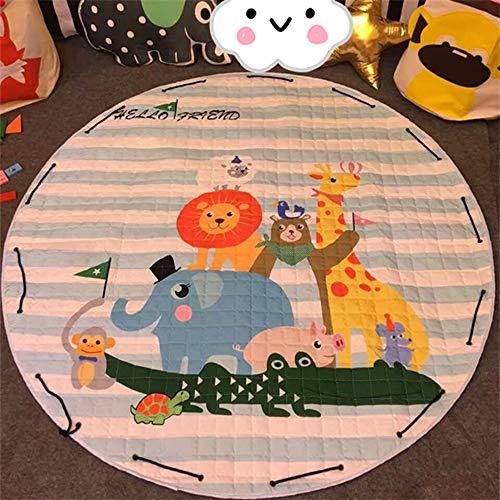 Baby Spielmatte Krabbeldecke Runde,Fansu Kinder Schlafbereich Aufbewahrungstasche Kuschelige Teppich Dekoration für Kinderzimmer Crawl Spielmatte 150cm