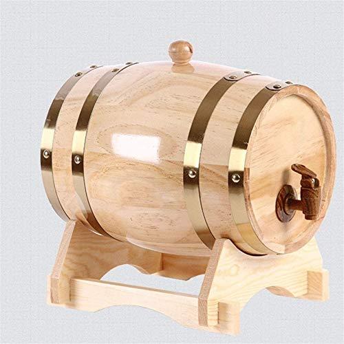 Barril de Madera, Barril de whisky de madera de madera de la vendimia para la elaboración de cerveza o almacenamiento de cerveza, whisky, cóctel 1.5L / 3L / 5L / 10L (con grifo) ( Size : 10L )