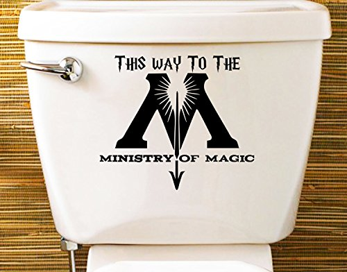 Ministry of Magic Aufkleber Toilette Decal Sticker Kinderzimmer (150x140mm) by Inspired Walls® (1 SET)