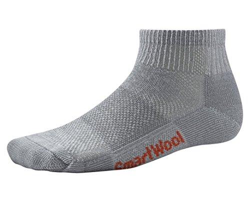 Smartwool Men's Mini Hiking Socks - Ultra Light Wool Performance Sock GRAY Small