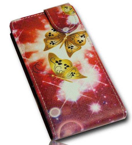 wicostar Handy Tasche Flip Style - Design No.4 - Cover Hülle Case Etui für Huawei Ascend Y300