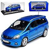 Minichamps Opel Zafira B OPC Blau Van 2. Generation 2005-2014 1/43 Modell Auto mit individiuellem...