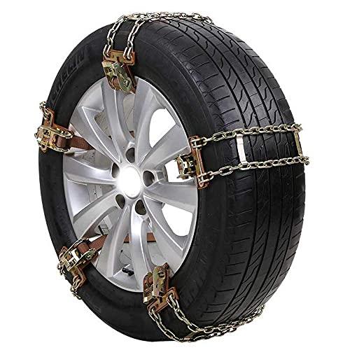 10 Piezas de Cadenas de Nieve para automóviles, Cadenas de neumáticos Antideslizantes para automóviles, Cadenas de Ruedas Antideslizantes Ajustables de Acero para Invierno de mergencia, para