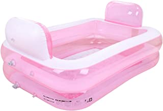 Baneras con Jacuzzi Padre e Hijo Hinchable para Adultos Barril Plegable Piscina Individual (Color : Pink)