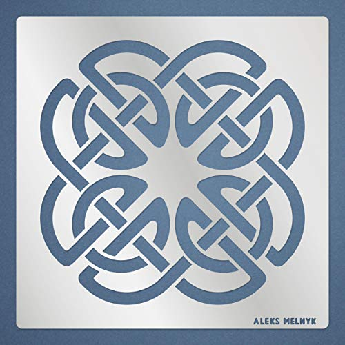 Aleks Melnyk #112 Metal Stencil/Celtic Knot/Wicca, Irish Stencil, 1 PCS/Template for Painting, Wood Burning, Pyrography, Wood Carving, for Embroidery, Quilting/Scandinavian, Viking Symbol