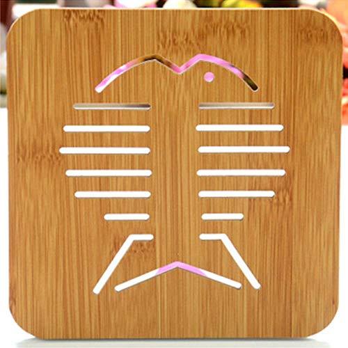 Warmte-isolatie Onderzetters Pot Mat 21 Patronen Hot Sale Kom Hout Kookbeker Padhouder 1 St Keukenbestendig Pad Mat, 06