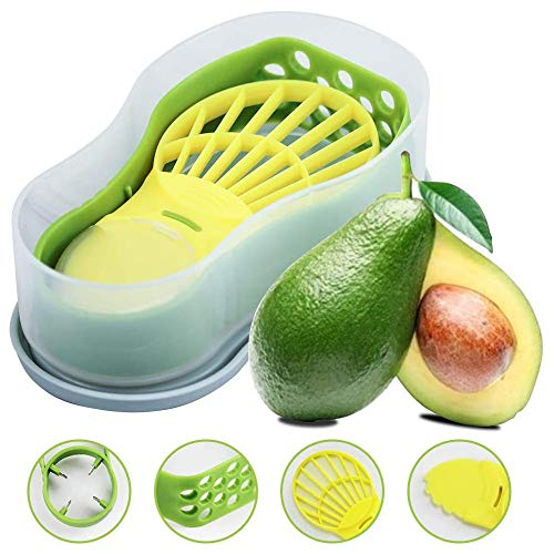 Avocado Slicer 6 In 1 Function Tool Storage Container Set