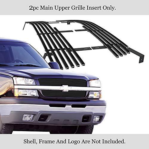 APS Compatible with 2003-2006 Avalanche 2003-2005 Silverado 1500 2003-2004 Silverado 2500 Black Billet Grille Grill C85317H
