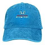 Gorras de béisbol Hon-Da Civic para niños y niñas, Azul, Talla única