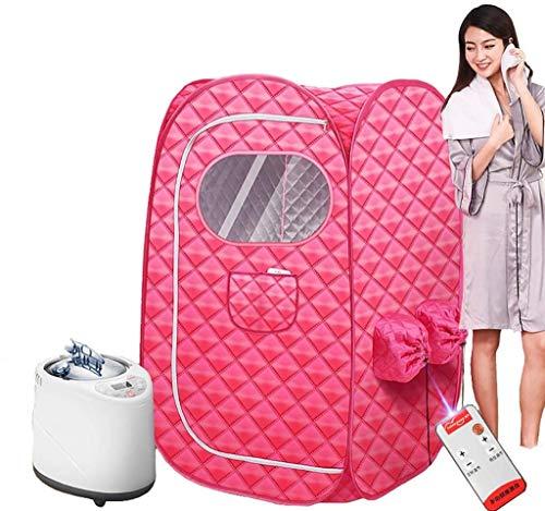 XIAOWANG Infrarot Sauna Tragbare Heizung Zuhause Dampfsauna,Heimsauna Tragbares Sauna-therapeutisches Dampf-persönliches Badekurort-Rosa,A