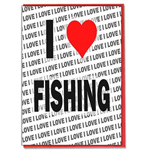 Ik hou van vissen - wenskaart - Verjaardagskaart - Dames - Heren - Dochter - Zoon - Vriend - Echtgenoot - Vrouw - Broer - Zuster