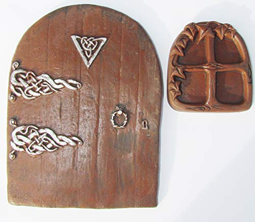 Zauberhafte Feen-TÜRÖFFNUNG TÜR fairy Miniatur-Fenster und Tür und Fenster für Sockelleisten, Wände und Bäume
