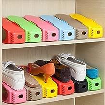 PHDstore 6pcs Plastic Shoes Rack Organizer Stands Shoe Storage Holder-Multi Color
