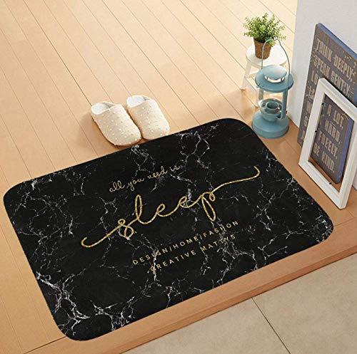 Moderne Marmor Design Bodenmatte Weiche Flanell Fußmatte Zitate Eingang Teppich Willkommen Matten Für Haustür Teppich 40x60 cm,B