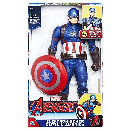 Avengers Elektronischer Titan Hero Captain America, 30 cm große Actionfigur mit Sprache und Sound