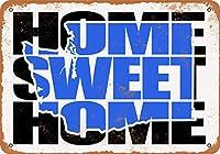 2個 20*30CMメタルサイン-ホームスイートホームワシントンブルー