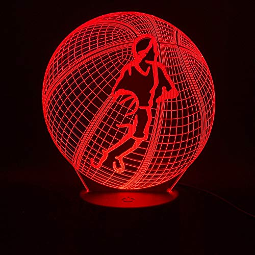3D Table Lamp Three-Dimensional Basketball Table Lamp Room USB Table Lamp Children Creative Kids Gift Table Lamp