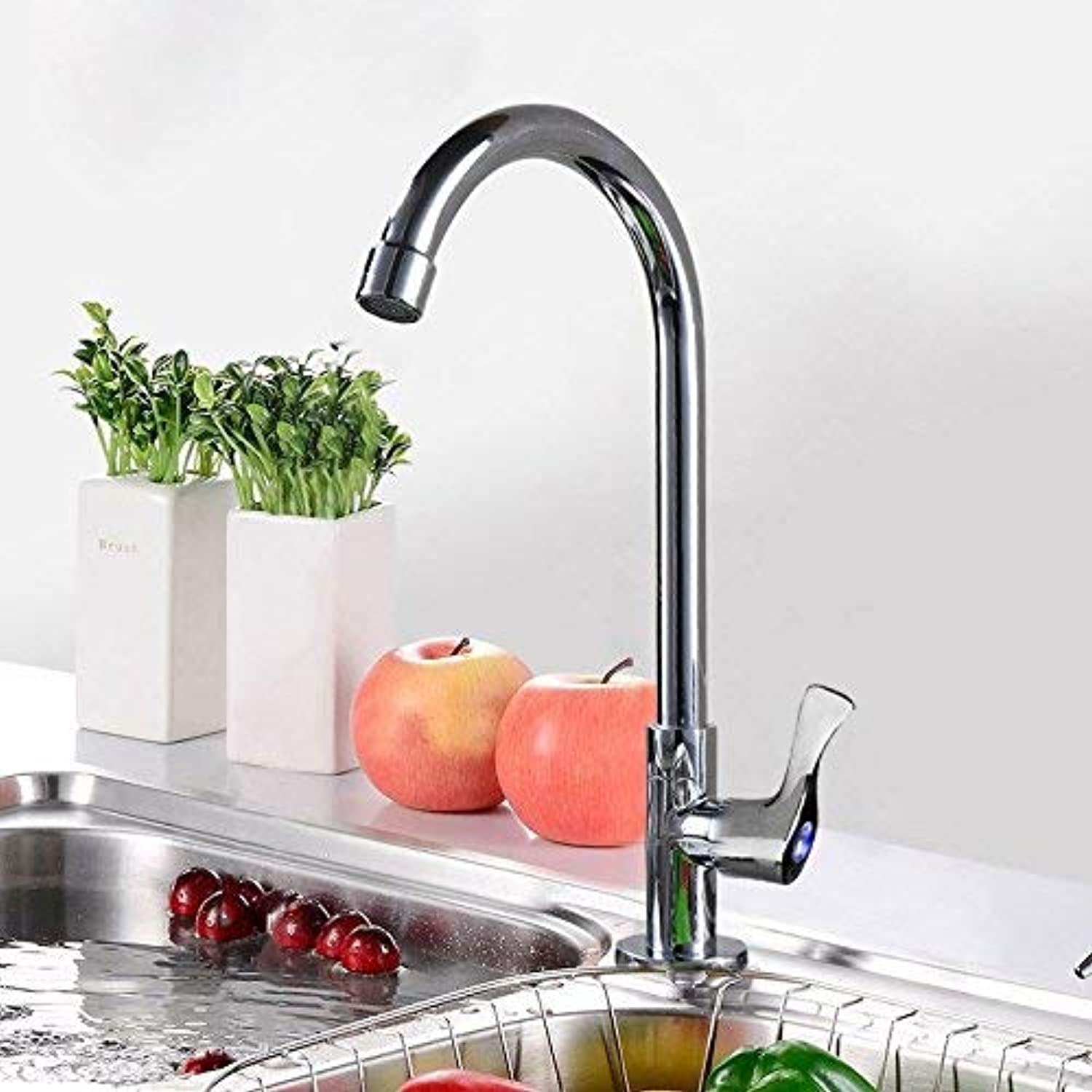 FAUCETS HOME Quick Open Single Cold Kitchen Sink Sink Faucet, redatable Kitchen Faucet