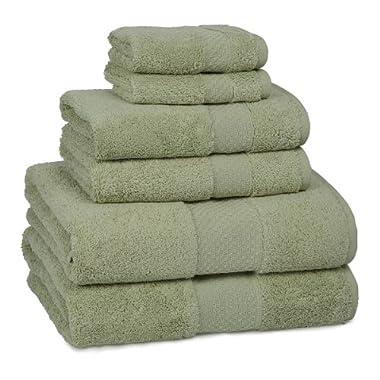 Kassatex Ottoman Elegance Collection Towels, Bath Sheet - Thyme