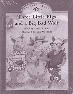Three Little Pigs and a Big Bad Wolf; Classic Tales: Leveled Literacy Intervention My Take-home 6 Pak Books (Book 61, Level F, Fiction) Green System, Grade 1