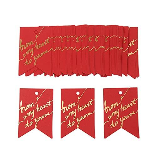 50pcs sellado de oro de papel del regalo Etiquetas agradece etiqueta fiesta de Navidad de la decoración de la boda de DIY Accesorios