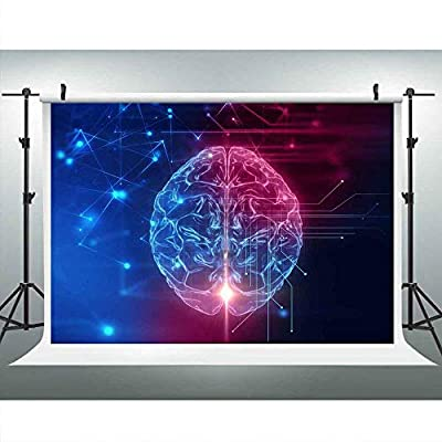 Artificial Intelligence Background 9x6ft Art Sci-fi Brain Photography Backdrop Photo Booth Studio Props LUCKSTY LUP098