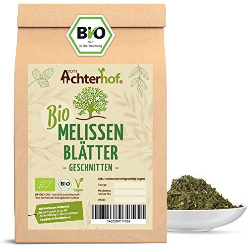 Melissentee BIO | 250g | 100% Melisse ohne Zusätze | Melissenblätter Tee getrocknet geschnitten lose | vom Achterhof