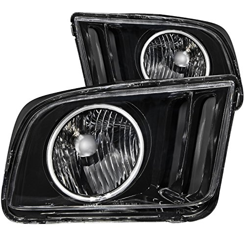 Anzo USA 121033 Ford Mustang Black With Halo Ccfl Headlight Assembly - (Sold in Pairs)