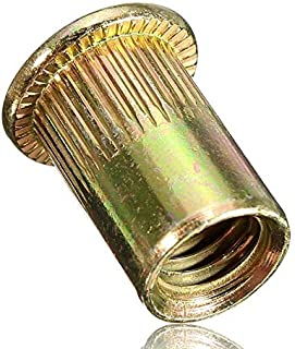 M8 Steel Threaded Flat Head Rivet Nut - Pack 50